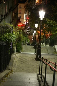 monmartre treppe nachts